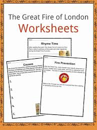 The Great Fire Of London of 1666 Facts & Worksheets For Kids