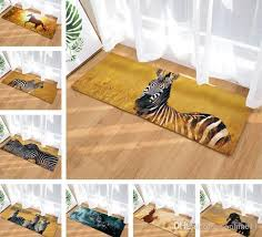 3d horse zebra printed carpet door mat playing area rugs carpet living room kitchen entrance animal welcome floor mats check carpets frieze carpet s