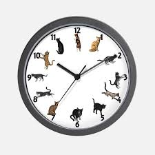 Small Picture Cat Clocks Cat Wall Clocks Large Modern Kitchen Clocks