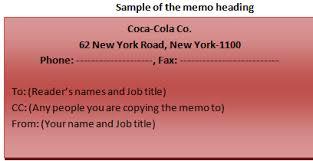 Sample Of Memoranda Different Parts Of A Business Memo Sample Memo