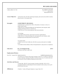 easy example how to create my resume   essay and resumehow to create my resume with career objective and strengths then education free sample