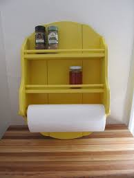 Upcycled Yellow Spice Rack / Wall Shelf / Paper Towel Holder - Storage,  Kitchen,