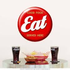 American Diner Kitchen Accessories Eat Good Food Served Here Diner Sign 14 In Vintage Kitchen