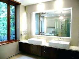 hanging bathroom sink vanity mirror from ceiling makeup awesome mount light ideas mounting installing over
