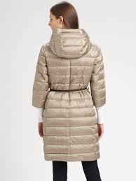Lyst - Max mara Novef Long Quilted Coat in Natural & Gallery Adamdwight.com