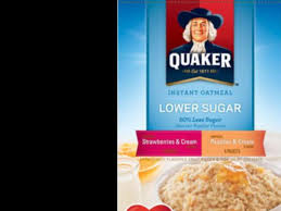 instant oatmeal fruit and cream variety