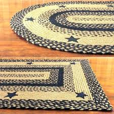 primitive braided rug country area rugs best black and tan with stars canada