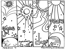 open and print this coloring page 14and said let there be lights in the vault of the sky to separate the day from the night