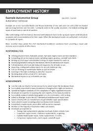 Cover Letter Mechanic Resume Template Free Mechanic Resume