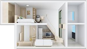 cross sectional view of duplex house design download 3d house