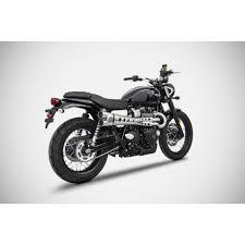 zard full exhaust system triumph street scrambler jbs motos