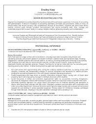 Senior Accountant Resume Berathen Com