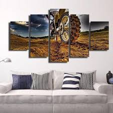 dirt bike multi panel canvas wall art elephantstock pertaining to ideas 3 on dirt bike wall art with dirt bike multi panel canvas wall art elephantstock pertaining to