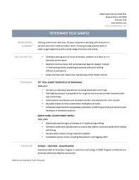 Veterinary Technician Resume Perfect Resume