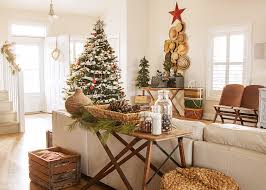 beautiful cheap artificial christmas trees in family room shabby chic with beach house decor ideas next to artificial grass ideas alongside apothecary jars chic family room decorating
