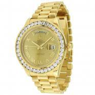 mens diamond rolex watches avianne co rolex oyster perpetual day date mens diamond watch 5 50 ctw
