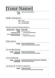 Simple Resume Format Download Resume Template Download Word Format