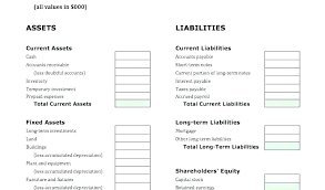 Example Classified Balance Sheet Report Form Balance Sheet Template Screenshot Income