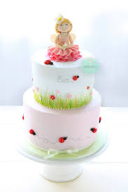 11 Fairies Cute Girl Cakes Photo Happy Birthday Cake Girl Pink