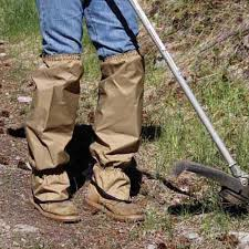 garden gaiters size regular color tan protective legwear
