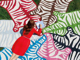 jonathan adler llama wool zebra rug large5
