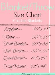 Throw Blanket Size Chart Blanket Size Charts Ahsel Anne