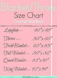 Blanket Size Charts Ahsel Anne