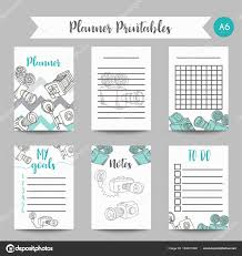 Planner Paper Template Calendar Daily And Weekly Planner Template Note Paper And Stickers