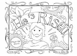 Sunday School Easter Coloring Pages Happy Easter Thanksgiving 2018