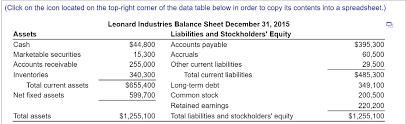 basic balance sheet solved pro forma balance sheet basic leonard industries w