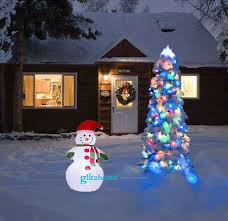 glitzhome 3 94 little snowman lighted up inflatable party indoor outdoor decor 30 59