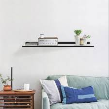 wall mounted 24 x 9 inch black floating