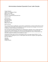 cover letter sample for administrative assistant cover letters samples
