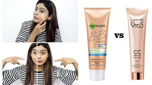 garnier bb cream vs lakme cc cream how to apply bb and cc cream rinkal soni