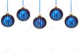 Cinque blu e oro decorazioni natalizie forma un bordo superiore