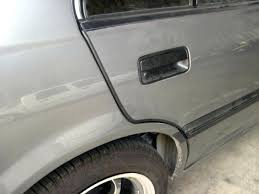 door guards black flat u style car door guards sold by the foot from auto parts door guards