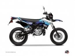 yamaha 50cc. kit déco 50cc flow yamaha dt 50 bleu