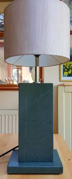 green slate lamp