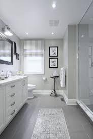gray ceramic tile bathroom.  Ceramic Gray Tile Floor With White Vanity Bathroom Ideas Love How They Have The  Tiles That Looks Like Runner Carpet On Ceramic Tile E