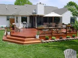 backyard deck plans diy step up 2 level patio deck