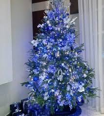Download Blue Decorated Christmas Trees