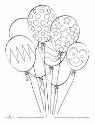 Balloon Coloring Page Bilder