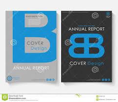 Logo Design Concept Presentation Blue Letter Annual Report Cover Design Template Vector
