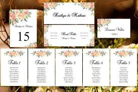 Wedding Seating Chart Template Printable Poster Plan