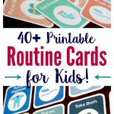 Toddler Schedule Chart 40 Printable Routine Cards For Toddlers And Preschoolers