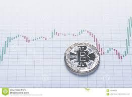 Silver Bitcoin Coin Trading Concept Stock Photo Image Of