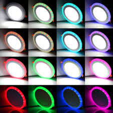 Colored Led Can Lights Ac110 265v 3w 6w 12w 18w Round Square Led Recessed Panel