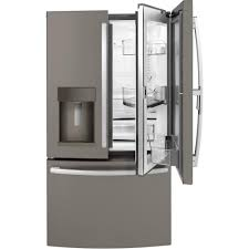 ge slate refrigerator. GE 36 In. W 27.8 Cu. Ft. French Door Refrigerator With Door- Ge Slate E