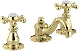 KOHLER K 108 3 CP Antique Widespread Lavatory Faucet Polished
