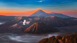 Wallpaper Indonesia, Java, volcano ...